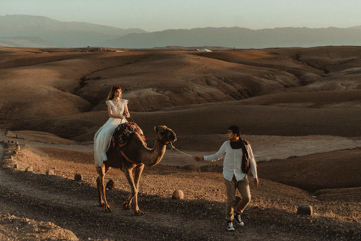 Elopement photography in Morocco edited with the poetry lightroom presets