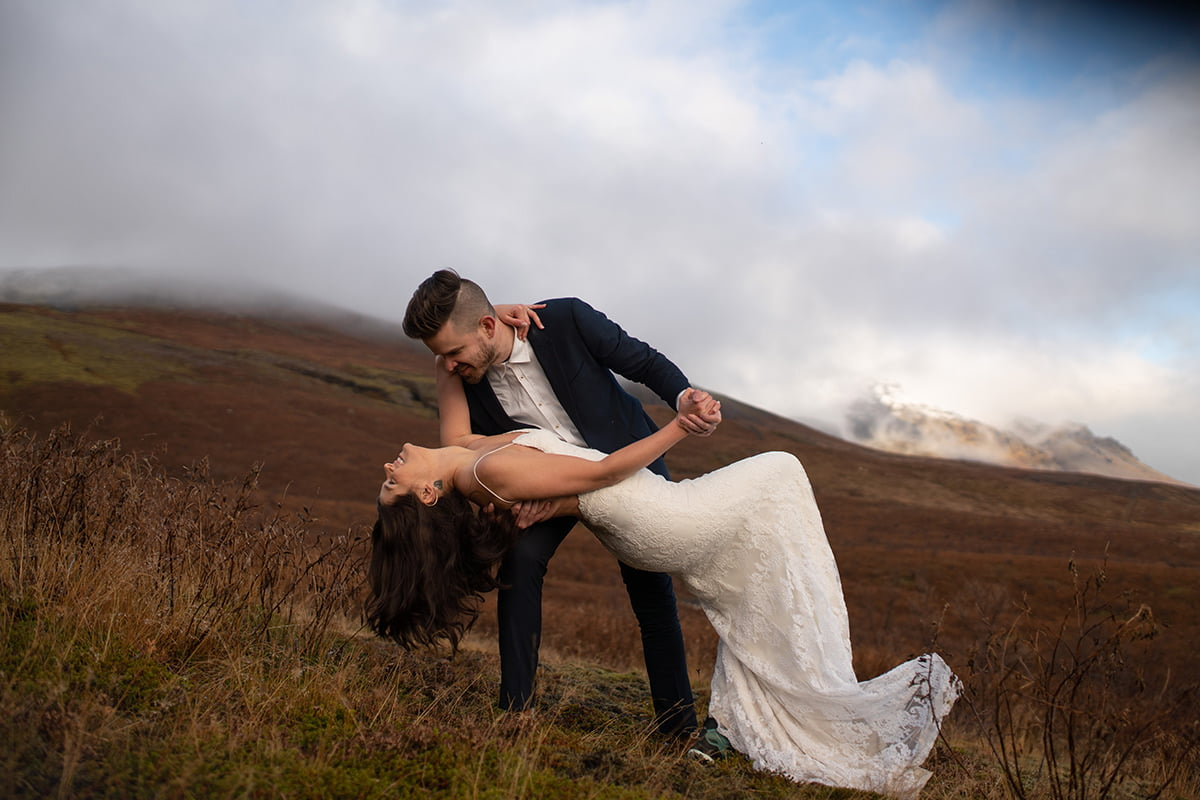 Poetry Lightroom Presets for wedding photographers - Elopement in Iceland picture before applying the photography preset