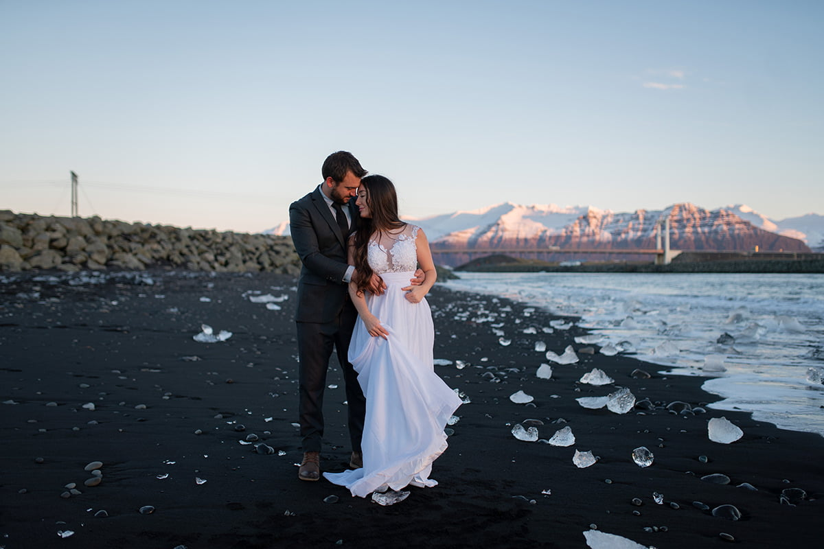 Lightroom Presets for Wedding Photographers - before applying poetry presets - elopement in Iceland