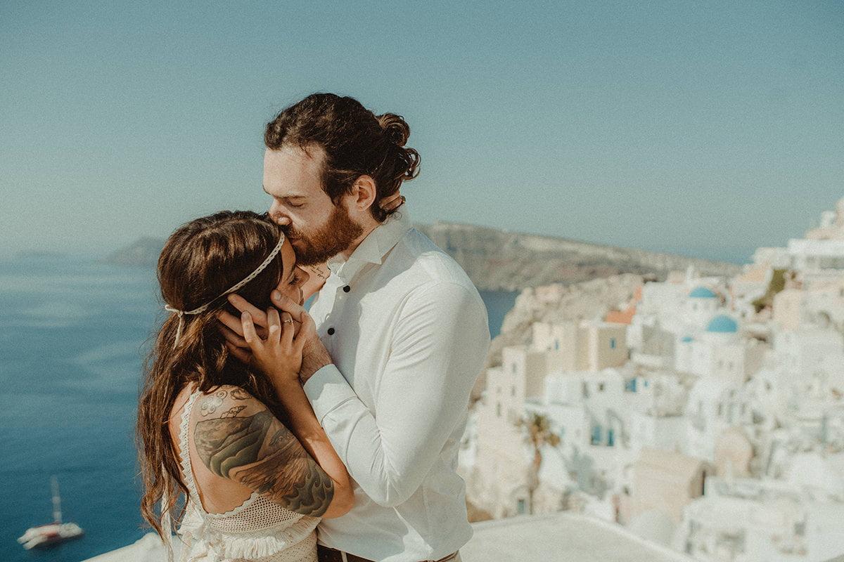 Best Lightroom Presets for wedding photographers after - Santorini Elopement