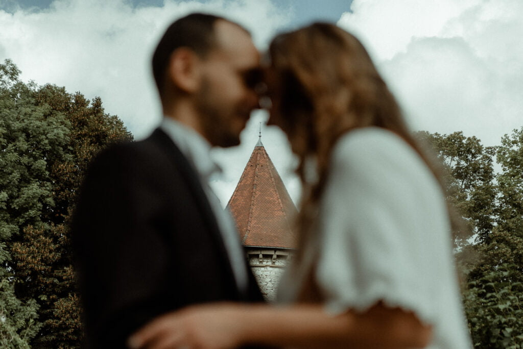 pturing the couple for their wedding Video in a French chateau